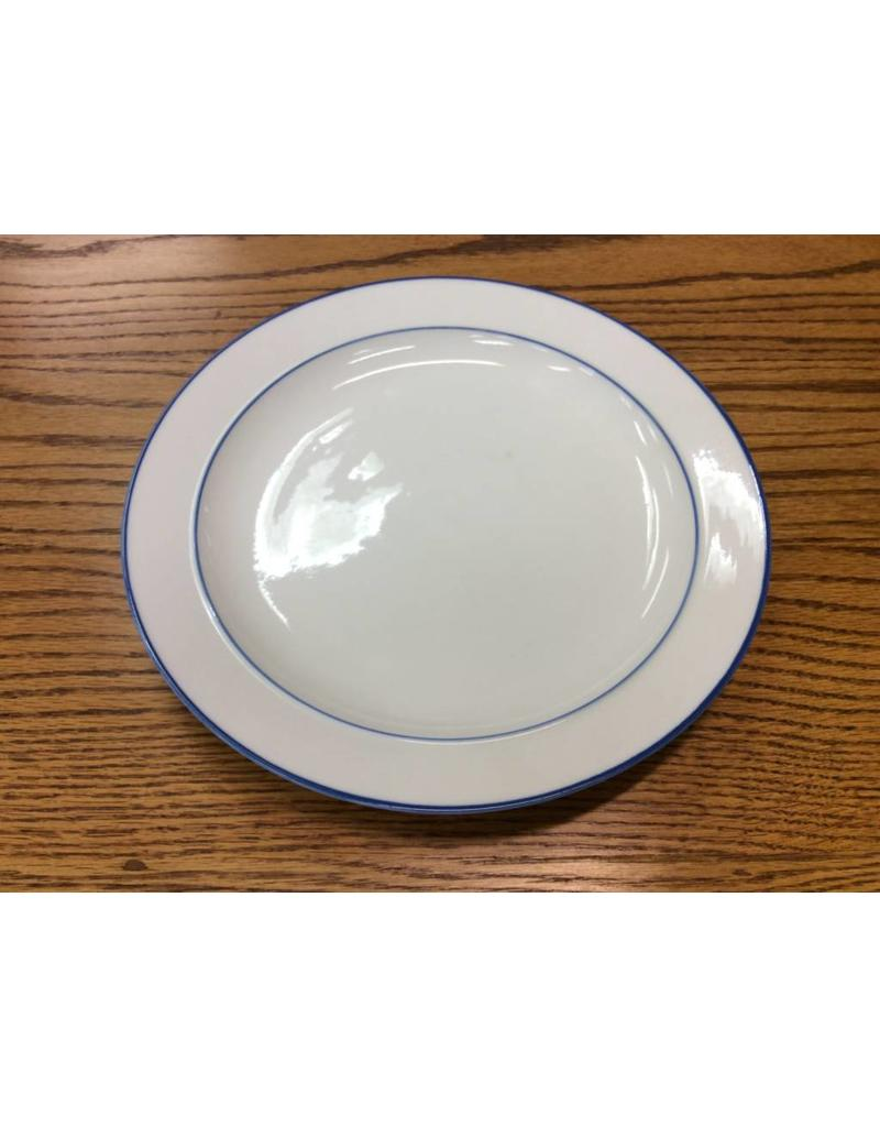 White Plate w/ blue trim LG