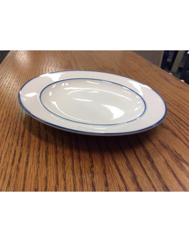 White Plate w/ Blue Trim SM