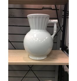 White Ironstone Vase W/ Handle