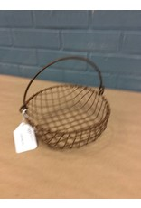 CWI Gifts Wire Mesh Basket Rust