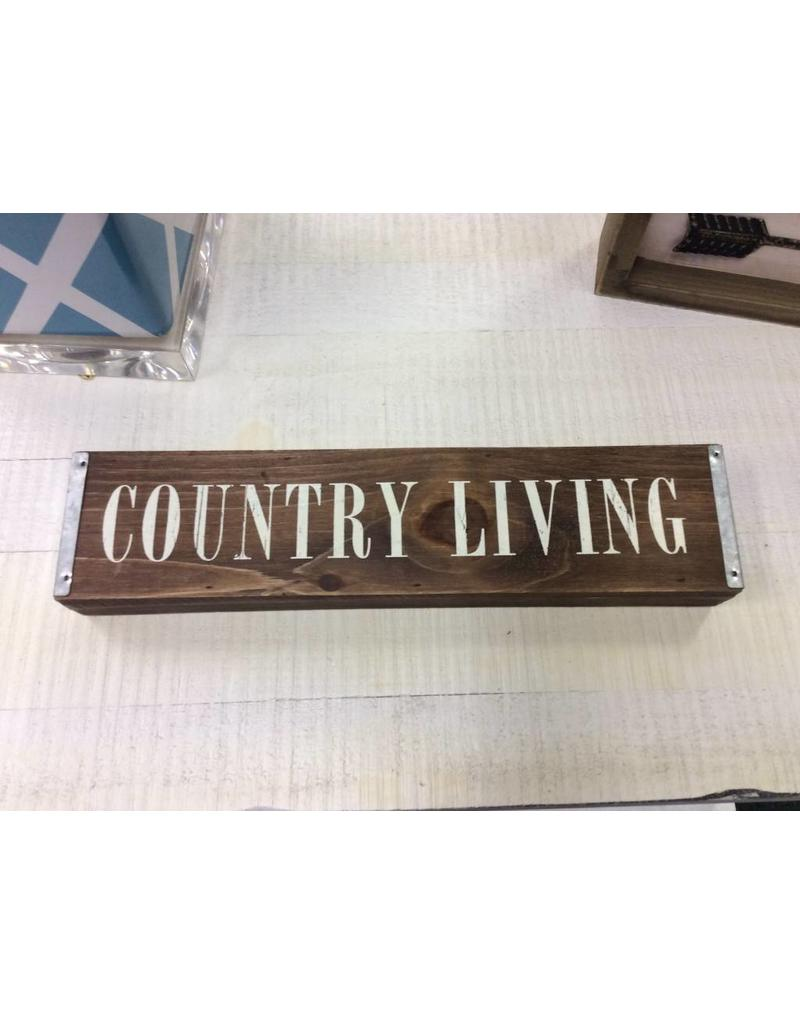 Country Living Table Sign