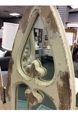 Hinged mirror with gothic arch