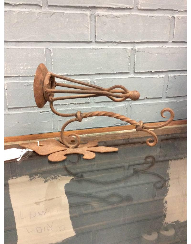 Rusty Iron Candle Sconce