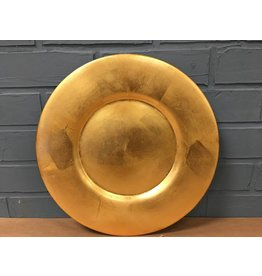 Pier One GOLD COLORED CHARGER PLATES