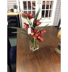 DDI Waterlook Rust Orchid in Glass Vase