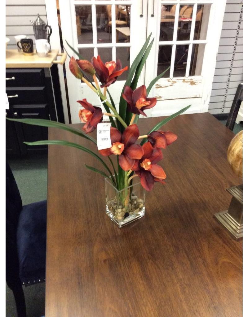 DDI Waterlook Rust Orchid in Glass Vase