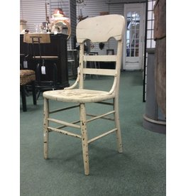 White Chippy Paint Antique Dining Chair