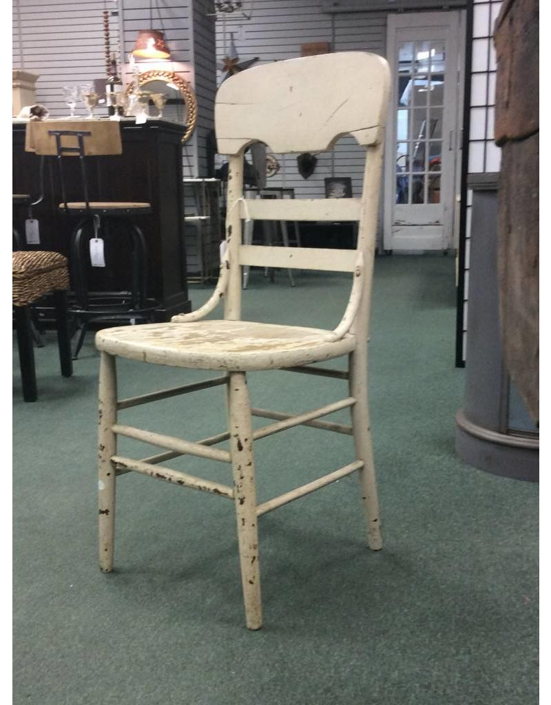 Antique Dining Chairs >> White Chippy Paint Antique Dining Chair Heirloom Home