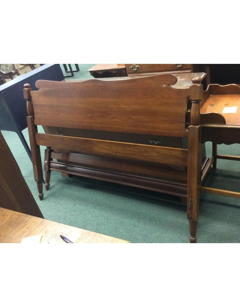 Vintage cherry full size headboard and footboard