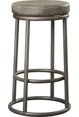 "Trent Austin Design Kendall 24"" Gray Finish Bar Stool"