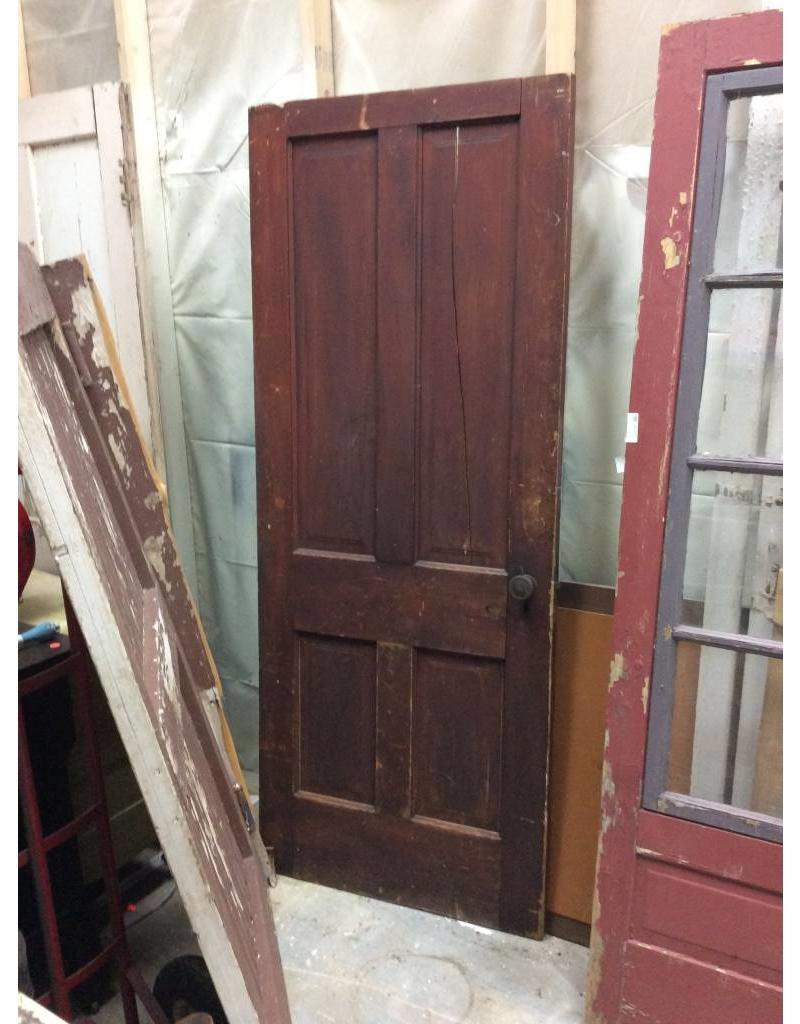 Vintage 4 Panel Wood Interior Door