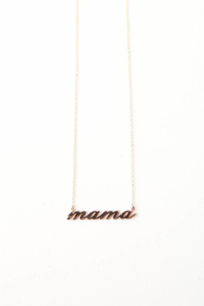 Thatch Mama Script Necklace