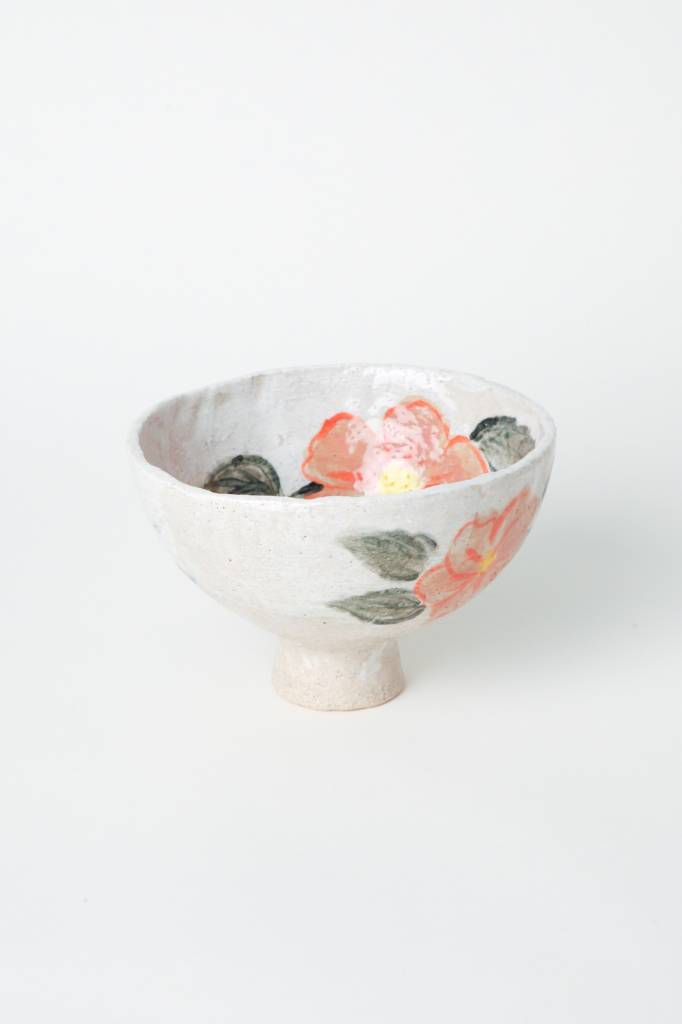 Alice Cheng Studio Medium Floral Footed Bowl