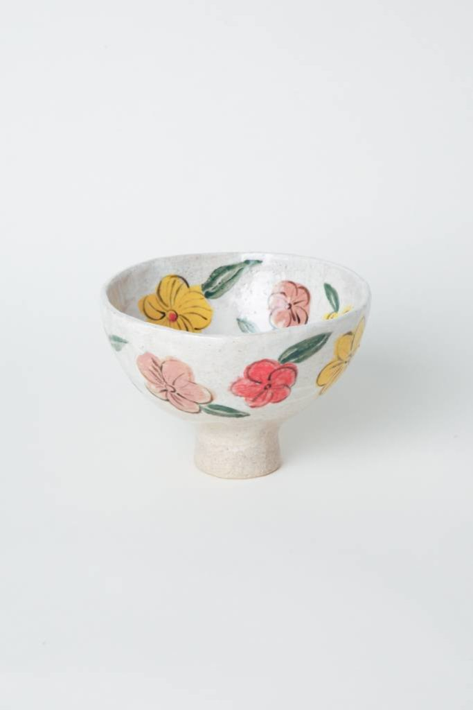Alice Cheng Studio Medium Multi-Floral Footed Bowl