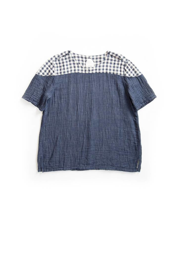 Gingham Yoke Box Top