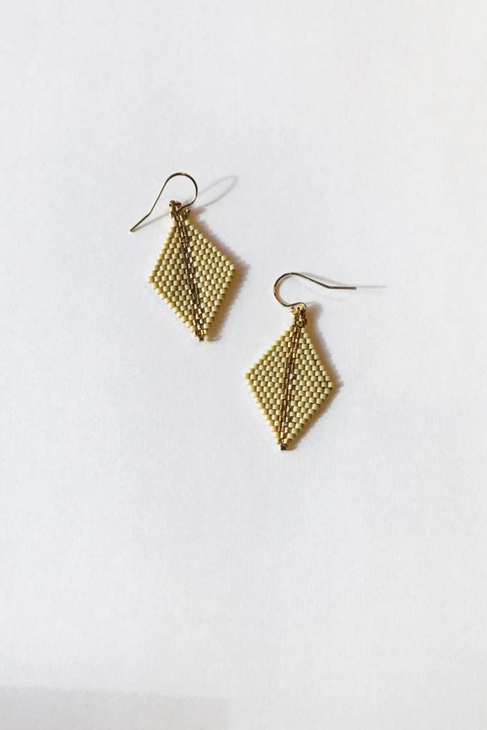 Beaded Diamond Earrings Multi