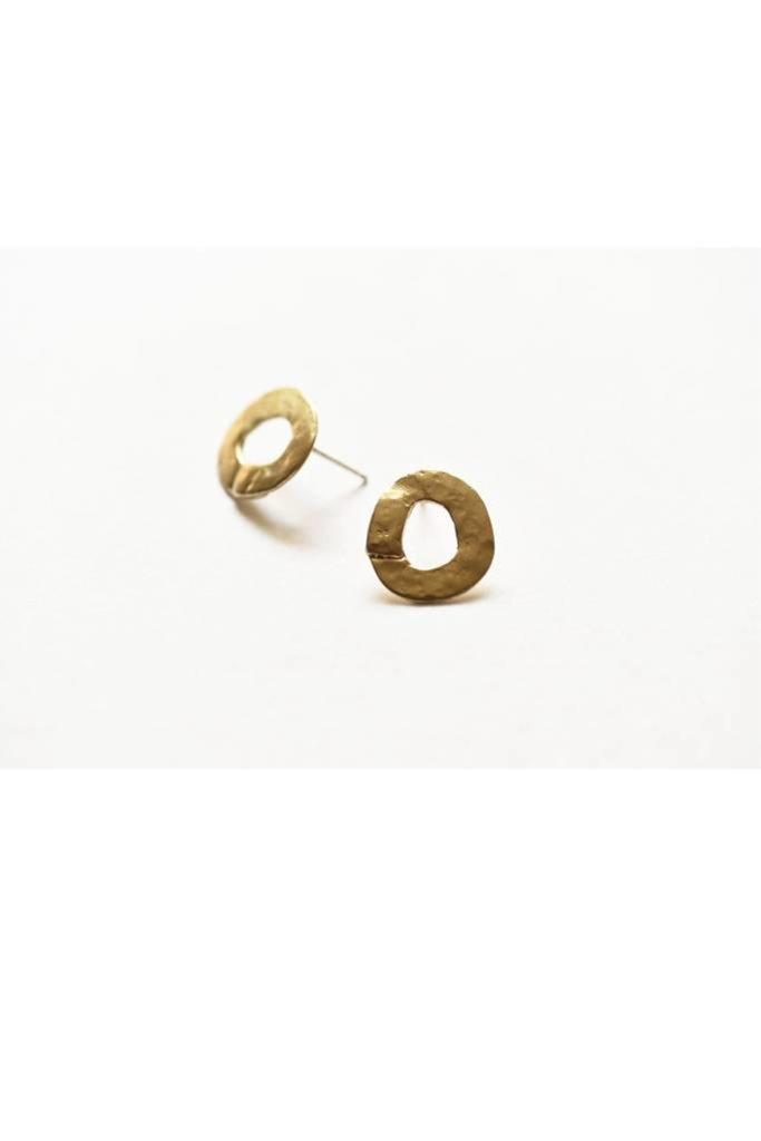 Brass Circle Studs 11