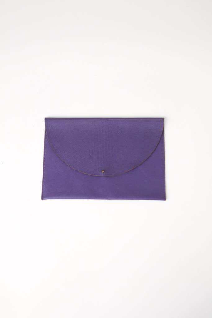 Matte Leather Envelope Clutch