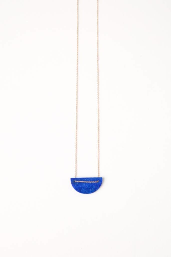Moon Necklace - Lapis Lazuli