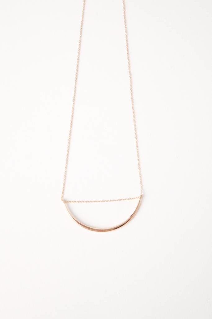 Curve 1 Necklace - Brass