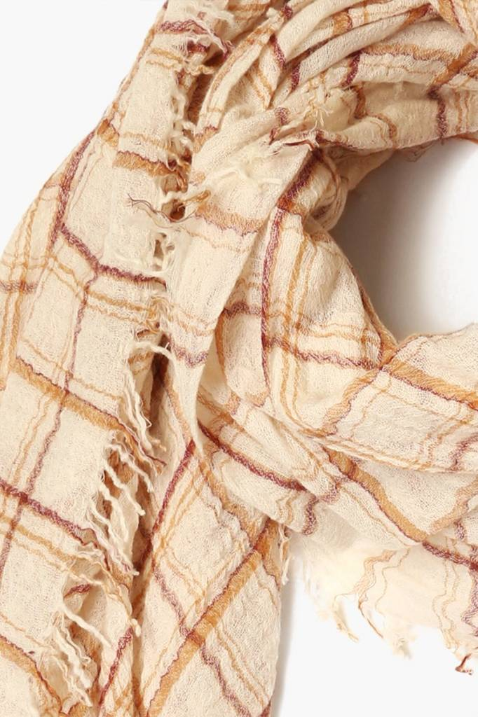Chan Luu Plaid Mix Scarf Wool