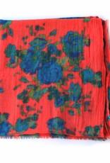 Wool Printed Floral Scarf