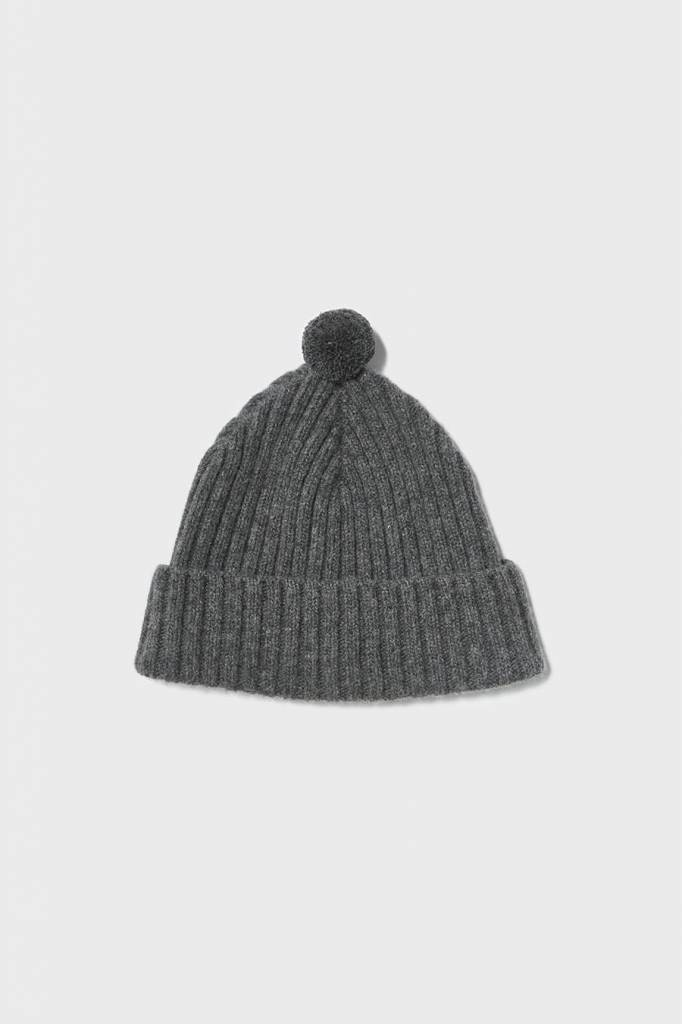 Hilary Grant Solid Pom Hat