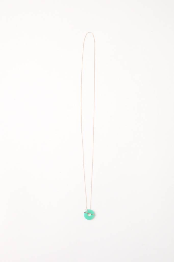 Januka Chrysoprase Lariat Necklace