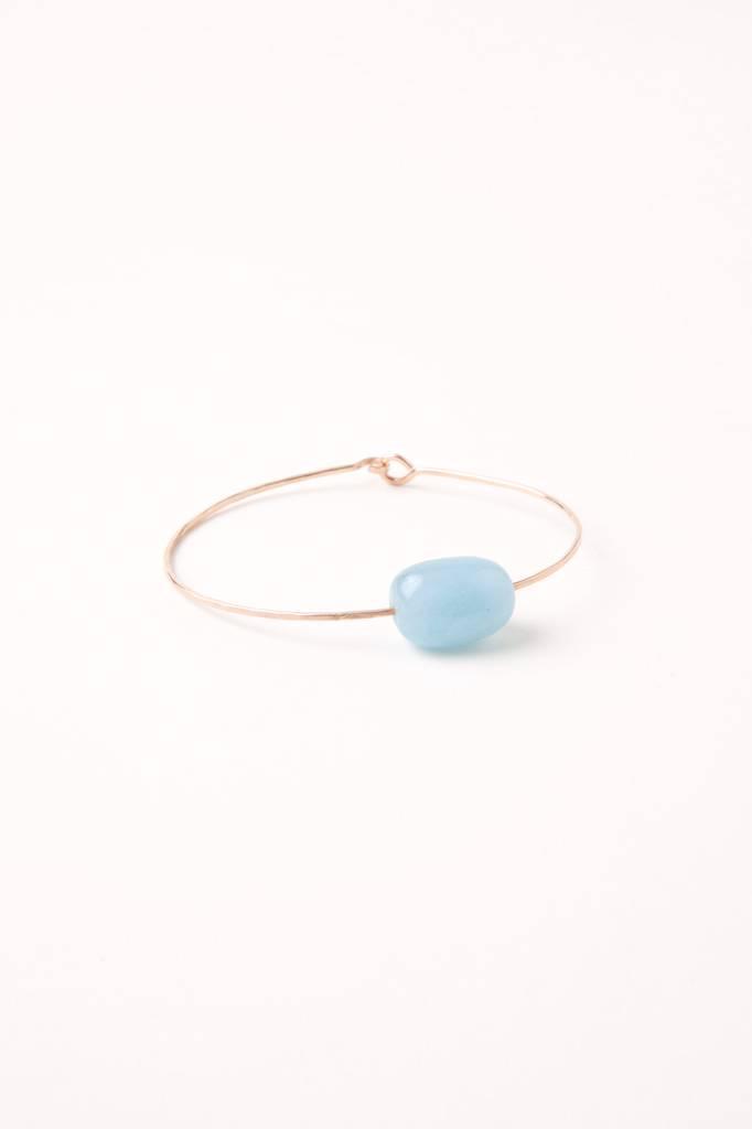 Mary Macgill Stone Cuff - Aquamarine