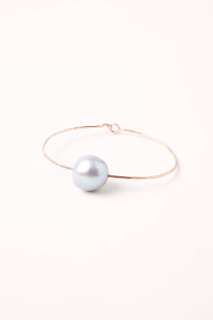 Mary Macgill Baroque Pearl Cuff - Silver Pearl