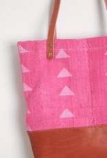 Bryar Wolf Triangle Print Pink Mud Cloth Tote