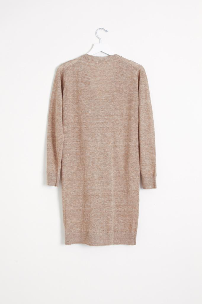 Ichi Antiquities Linen Long Knit Cardigan