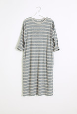 Ichi Antiquities Linen Border Midi Dress