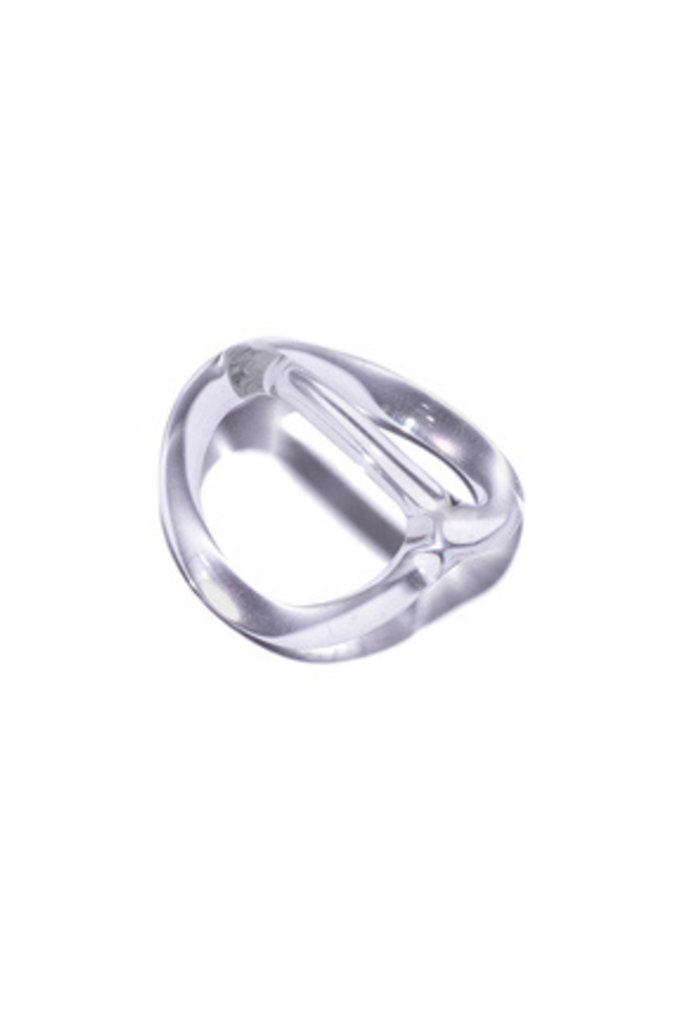 Double Loop Glass Ring