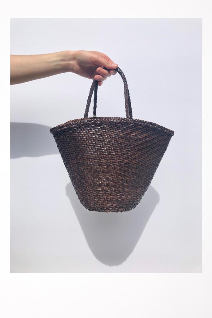 45 Weave Myra Basket Drk Brown