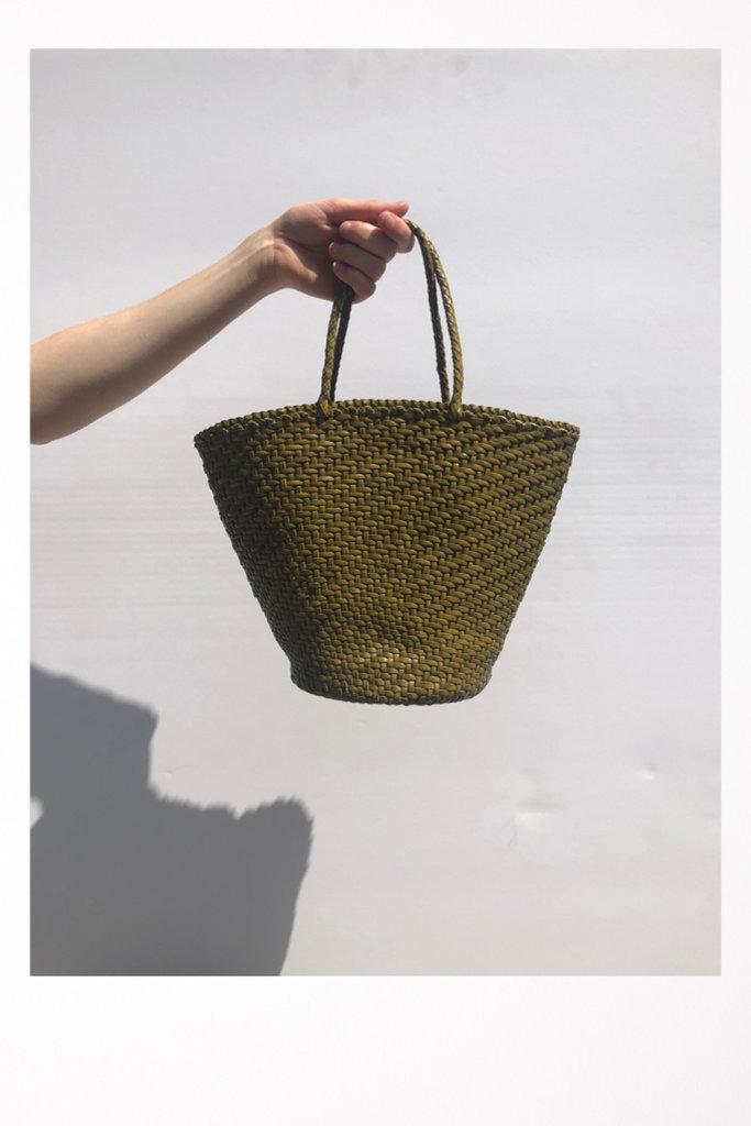 45 Weave Myra Basket Green