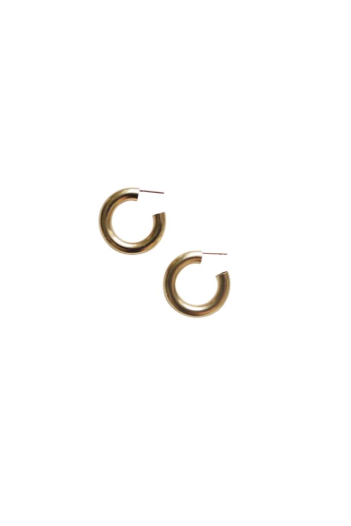 Med Hoop Earrings Brass