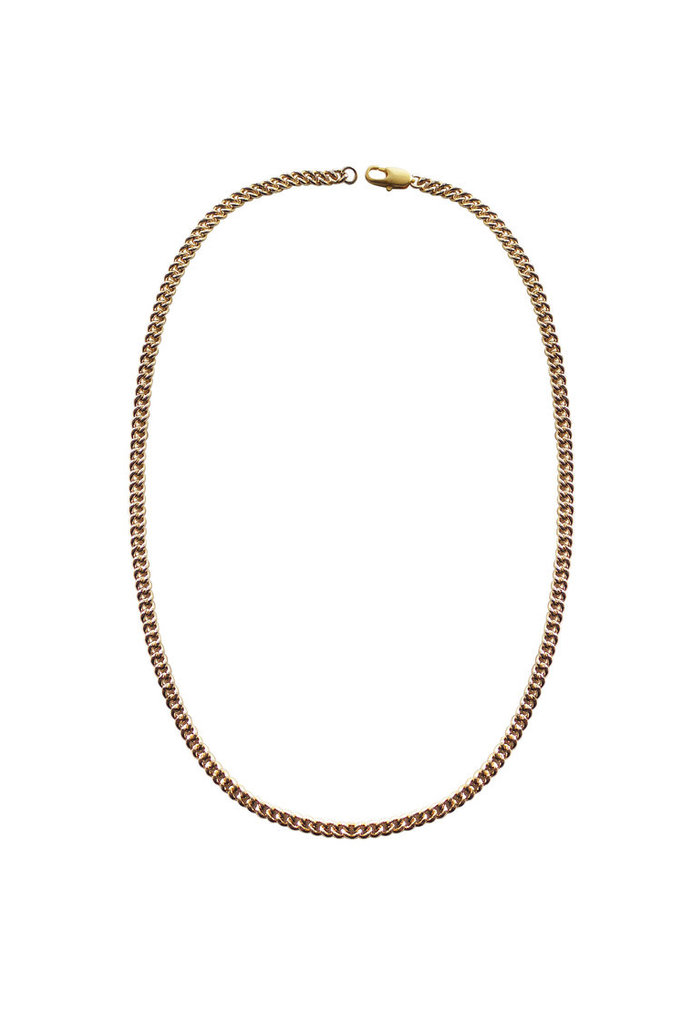 Curb Chain Necklace Brass/14KT GP
