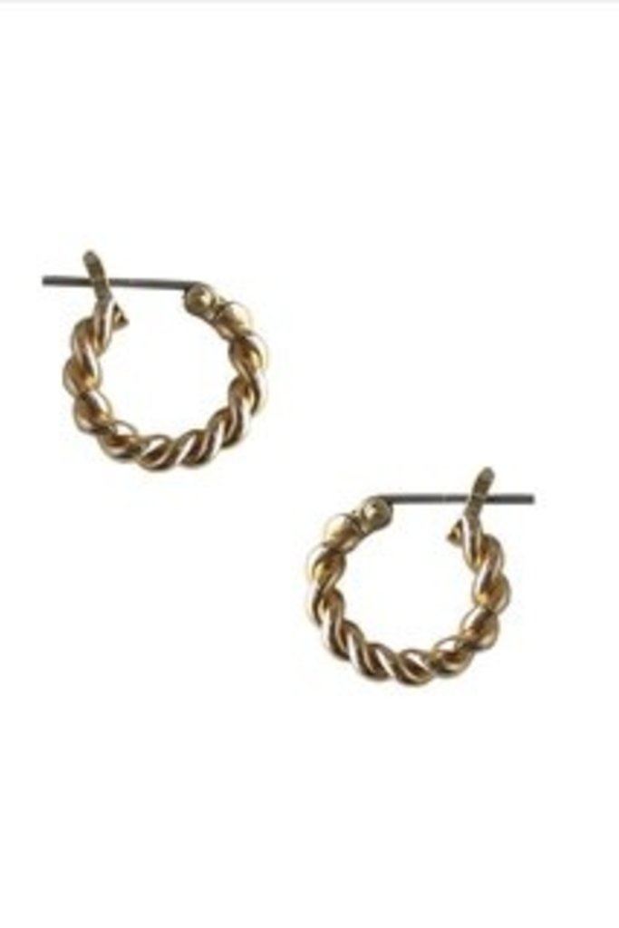 Mini Twist Brass Hoops