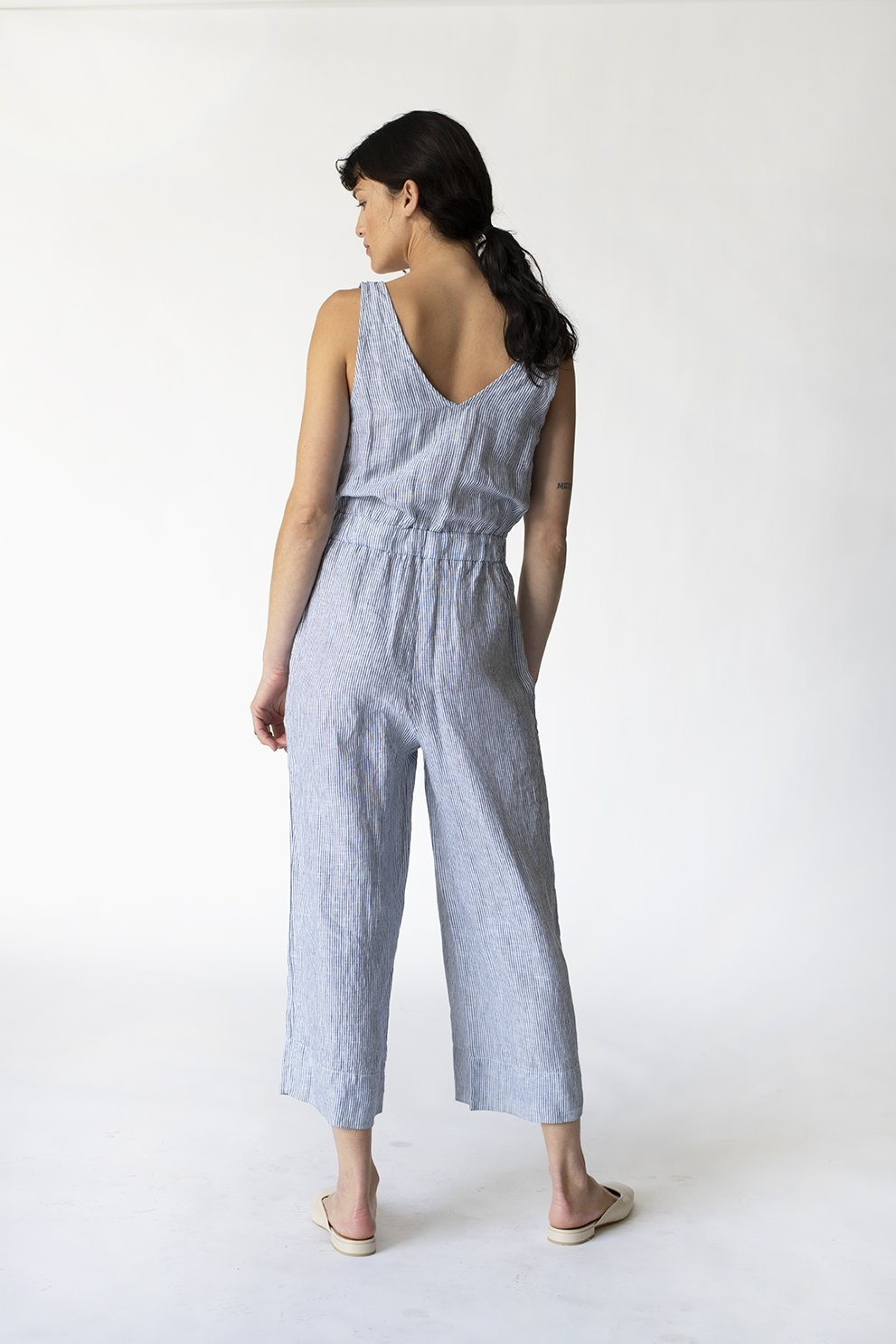 Linen Stripe Jumpsuit