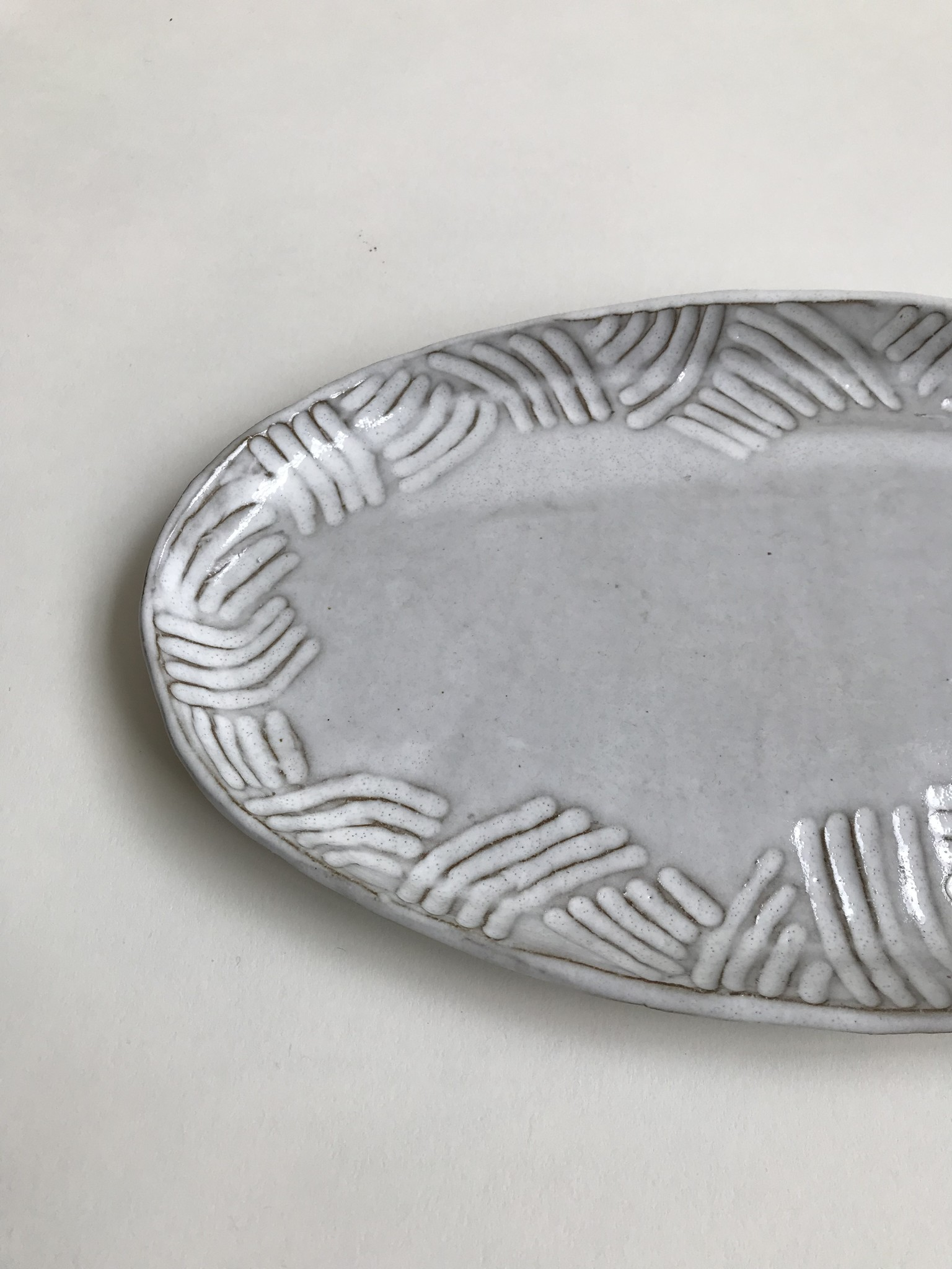 Alice Cheng Studio Oval Carved Platter