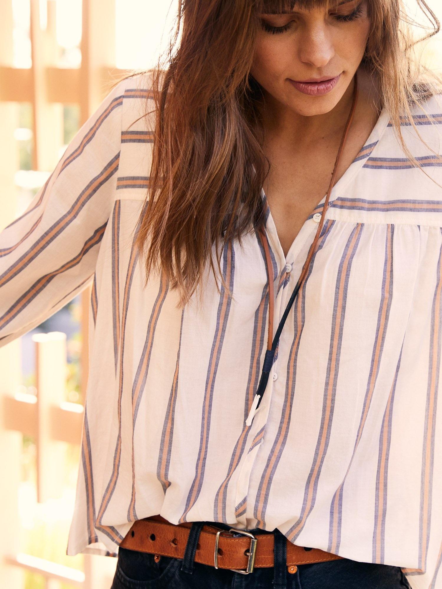Xirena Francie Top Ivory Stripe