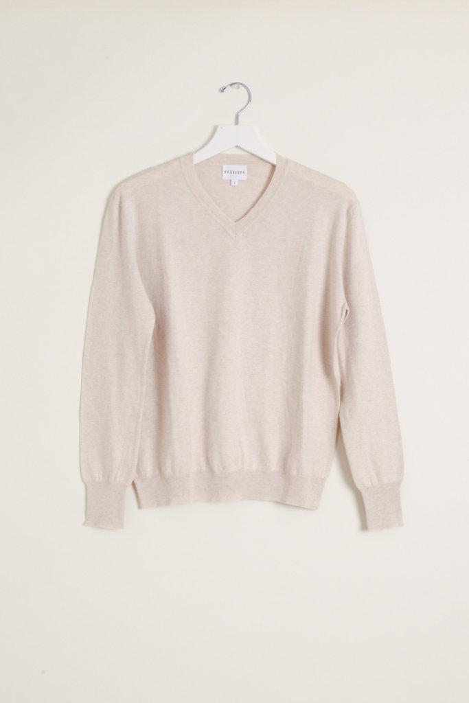 Felicite Shrunken V Neck Cotton Cashmere