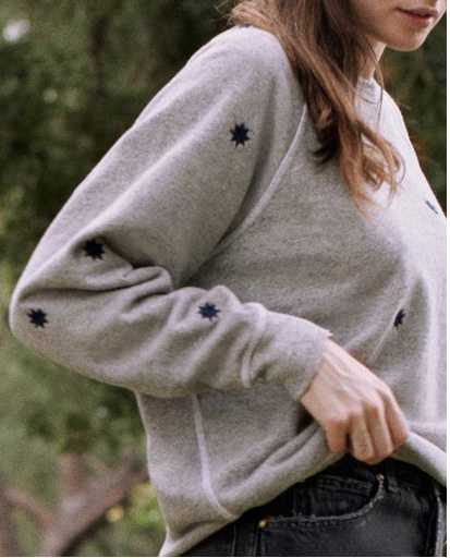 The Embroidered College Sweatshirt