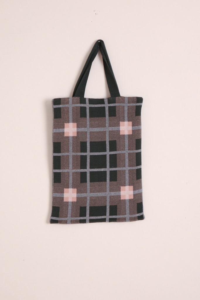 Hansel From Basel Plaid Tote Bag