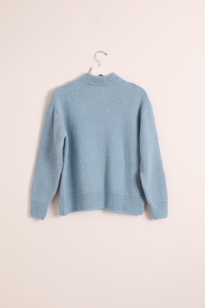masscob Light Blue Wool Pullover