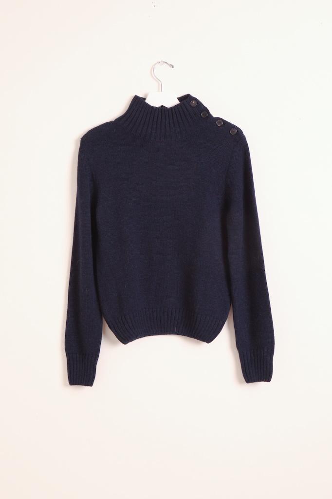 masscob Navy Turtleneck sweater