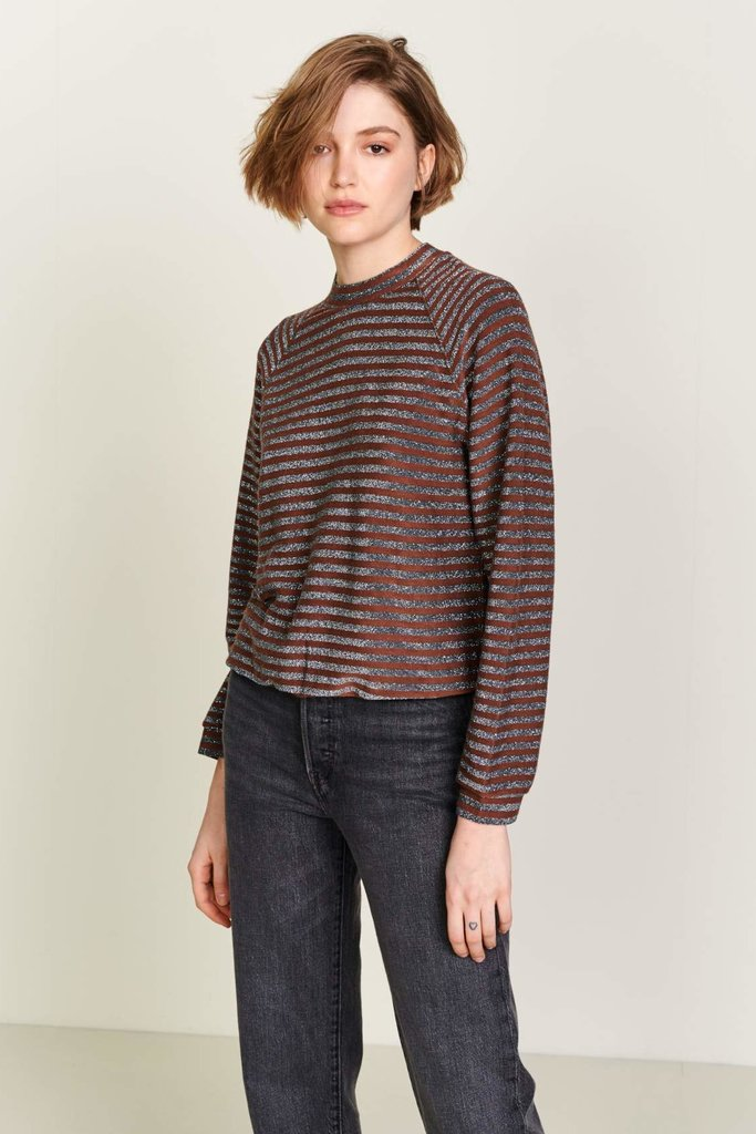 Bellerose Veely Sweatshirt Metallic Stripe