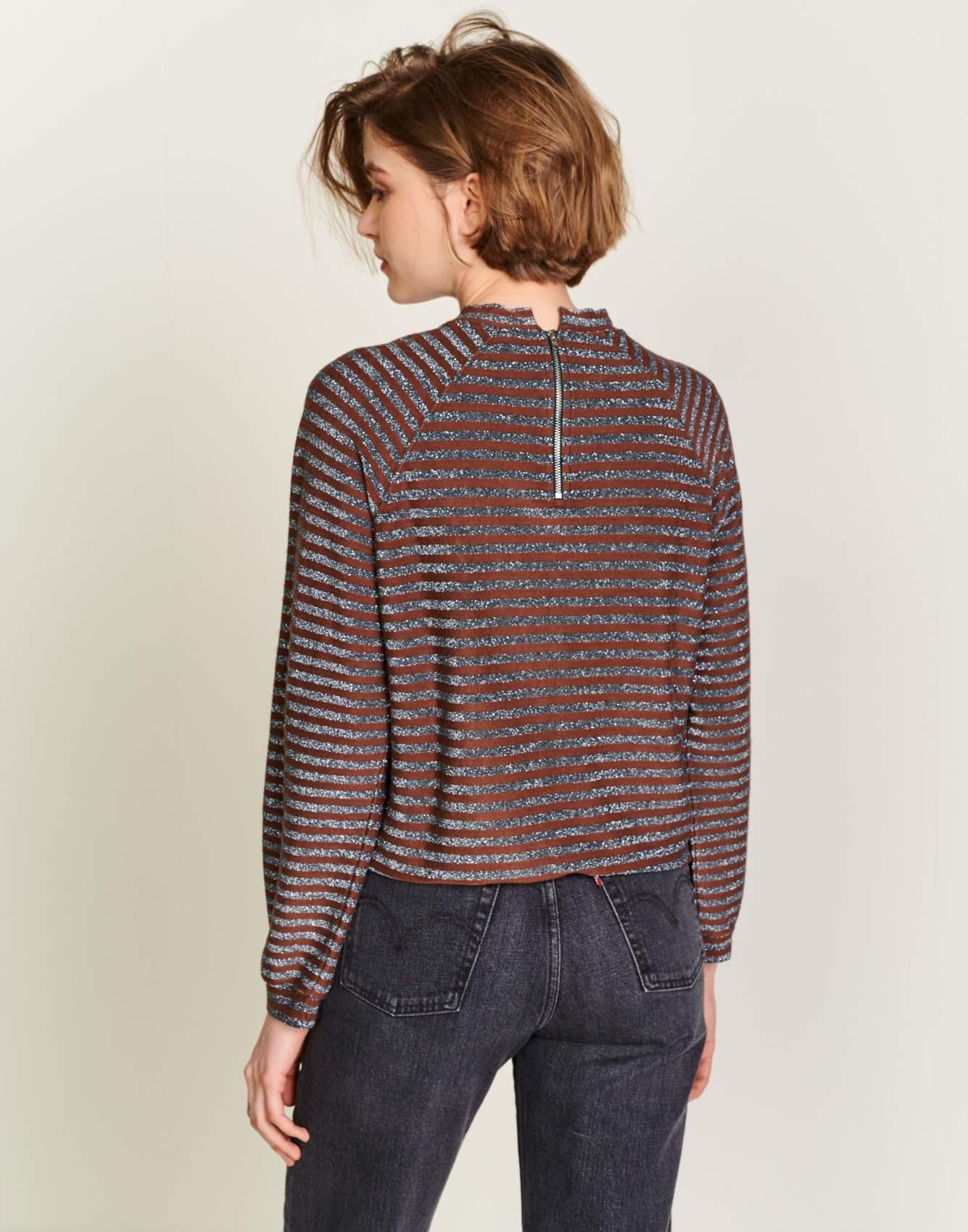 Bellerose Veely Sweatshirt Metallic Stripe