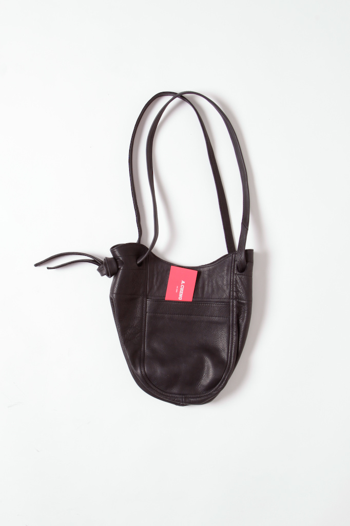 Convertible Tote to Cross Body Leather Bucket Bag